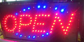 LEDサイン【オープン】