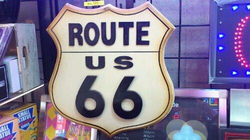 ROUTE66 ウッドサイン
